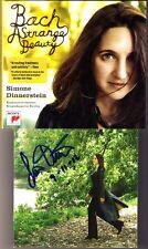 Simone DINNERSTEIN Signiert BACH Strange Beauty CD Concerto 1 5 English Suite 3