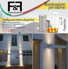 Lampada parete applique led uso esterno interno doppia luce fredda regolabile