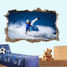 Deportes de Invierno Snowboard Pegatinas de Pared 3D Mural de Arte Decoración Hogar Oficina de cartel UF7