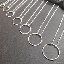 """1 Halskette """"Circle of life"""" in 925er Silber mit 1,2 mm feinen Flachpanzerkette"""