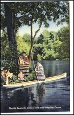 Florida USA 1953 Paperon de' - out canoe canoa D. Seminole Indians