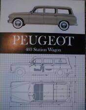 1962 ? Peugeot 403  Wagon Sales Brochure Sheet 68 Peugeot