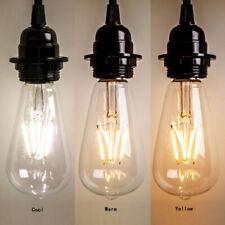 Hot Vintage Edison E27 2W/4W/6W/8W Screw LED Filament Light Bulb ST64 Globe Lamp