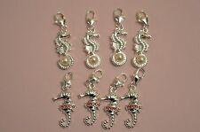 UK Jewellery Seahorse Silver Bracelet Necklace Anklet Charm Rhinestone Heart