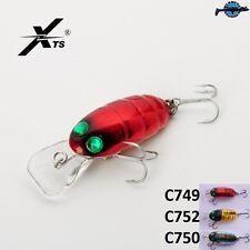 Leurre poisson nageur insecte topwater Buggy  XTS 33mm 3,5gr blackbass perche