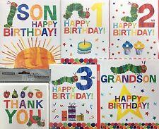 The Very Hungry Caterpillar Carte d'anniversaire - 1st/2nd/3rd/Fils/petit-fils/merci