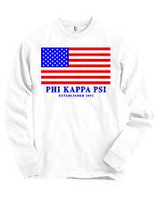 Phi Kappa Psi USA Flag Bella + Canvas Long Sleeve T Shirt NEW
