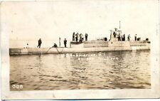 RPPC  U S Submarine G-1 on Trial Run  1911  Rare Image....