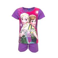 DISNEY pyjashort LA REINE DES NEIGES 4 5 6 ou 8 ans pyjama pyjacourt violet rose