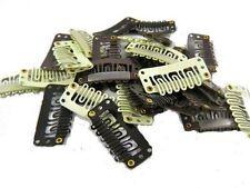 Extensiones De Cabello clips a presión Peluca Weft Remy 28/32mm Marrón Negro Rubio del Reino Unido la venta
