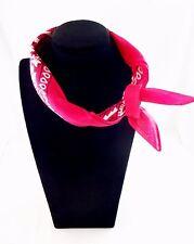 Bandana scarf classic 21 inch square cotton fabric skinny scarf headband