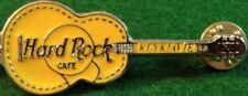 Hard Rock Cafe REYKJAVIK 1990s Yellow ACOUSTIC Guitar PIN - HRC Catalog #7712