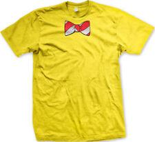 Fake Bow Tie Stripes Red White Necktie Costume Business Attire His Men's T-Shirt