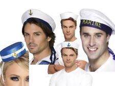 Sailor Hat Womens Mens US Navy Captain Officer Fancy Dress Accessory