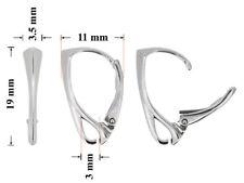 Sterling Silber 925 Ohrringe Ohrhaken Klapp-Brisuren 19x11mm * Schmuckteile