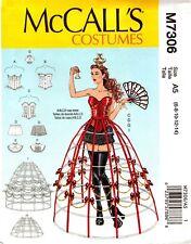 McCalls Sewing Pattern 7306 Costumes Corset Hoop Skirts Shorts Collar 6-14