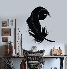 Wall Vinyl Decal Ethnic Feather Romantic Amazing Love Bedroom Decor z3893