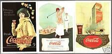 LOTTO#12 - 3 FIGURINE STICKERS THE WORLD OF COCA COLA