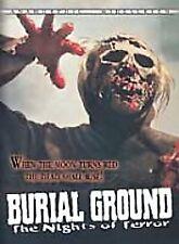 BURIAL GROUND - NIGHT OF TERROR rare Horror dvd Cemetary Zombies KAREN WELL 1980