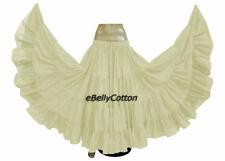 Cream Skirt 25 Yard 4 Tier Cotton Belly Dance Tribal Gypsy jupe boho