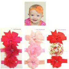 3 pcs/set Kids Baby Toddler Flower Bead Butterfly Bow Headbands Hair Accessories