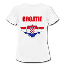 T-shirt Enfant Croatie avec prénom au dos personnalisé - Mondial Football 2018