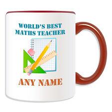 Personalised Gift World's Best Maths Teacher Mug Money Box Mathematic Cup School