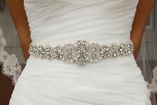 Handmade Wedding Bridal Belt Crystal Rhinestone Dress Sash Wedding Sash Belt