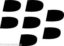 BlackBerry Logo Bullets BB Z30 Z10 Q10 Vinyl Decal Your Color Choice Sticker