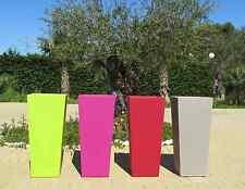 Vaso resina quadrato alto vasi moderni H 85 x34x38 color cache pot Made in Italy