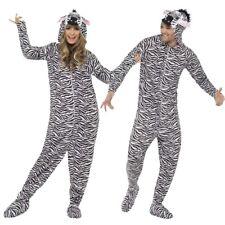 Full Body Costume Zebra Zebrakostüm Jumpsuit Figure Body Suit Zebraprint
