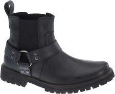Harley Davidson Duran Men'S Biker Boots Black Leather Ankle Boot Slip On