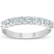Platinum 1/2ct Diamond Wedding Ring Womens Half Eternity Ring