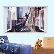 Acción de superhéroe Spiderman Pegatinas De Pared 3D Mural de Arte Decoración Hogar Sala Oficina TV8