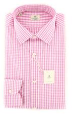 New $450 Luigi Borrelli Lavender Shirt - Extra Slim - (EV0612880)