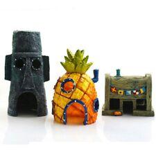 Aquarium Ornament Spongebob Pineapple House Kids Fish Tank Decoration Landscape