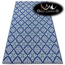 facile à nettoyer sisal Tapis fleurs bleues 'COULEUR' pratique résistant et