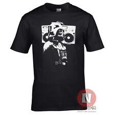 Darth Vader boombox ghetto blaster retro feel old school hip hop DJ t-shirt
