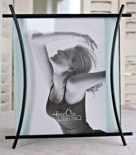 Fotorahmen 10x15cm Moderner Metallrahmen schwarz stehend/ hängend  Bilderrahmen