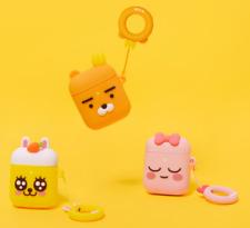 Kakao Friends New Cute Air Pod Hard Case Cover Finger Ring Set Ryan Apeach Muji