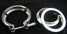 "3.5"" V-BAND KIT 2 CNC flange + tubo di Scarico Inox Morsetto"