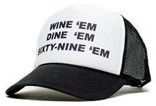 New WINE 'em DINE SIXTY-NINE 69 Dumb and Dumber Sea-bass Hat Cap Curved Bill