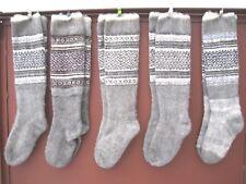 Long knee Socks  LEG WARMERS hunting fishing natural lamb wool Russian craft