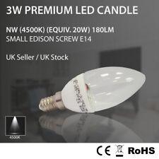 2 6 10 20 x Premium LED Bright Candle Clear 3W Light Bulb E14 SES 4500K 20W