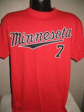 MLB Minnesota Twins Baseball Joe Mauer 7 Jersey Shirt Mens Majestic  Nwt