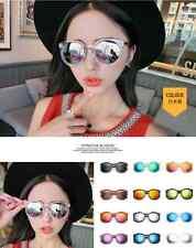 Men Women Sunglasses Driving Fishing Aviator Goggles Eyewear Punk Round Glasses
