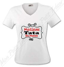 T-shirt Femme Meilleure Tata du Monde - Humour pour une super tante - du S au XL