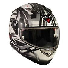 Zoan Flux 4.1 Snow Devil Flat White Dual Lens Modular Flip Up Snowmobile Helmet