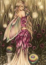 "Jessica Galbreth Greeting Card Enchanted Garden Fairy Eu Size 17x12.5cm 6.6x4.8"""