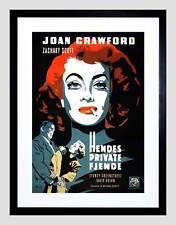 AD MOVIE FILM FLAMINGO ROAD DANISH RELEASE JOAN CRAWFORD FRAMED PRINT B12X6376